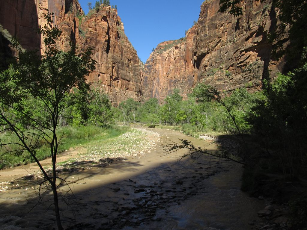 Riverside Walk to Zion Narrows, Zion Canyon, Zion National Park, Utah