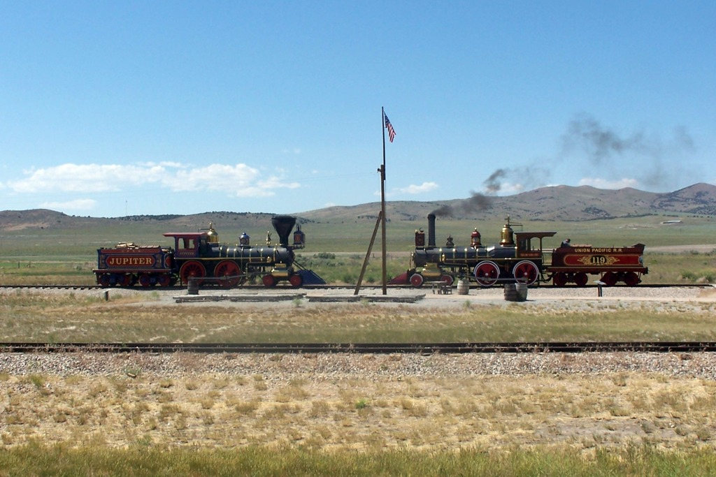 Steam Engines Meet at the Golden Spike